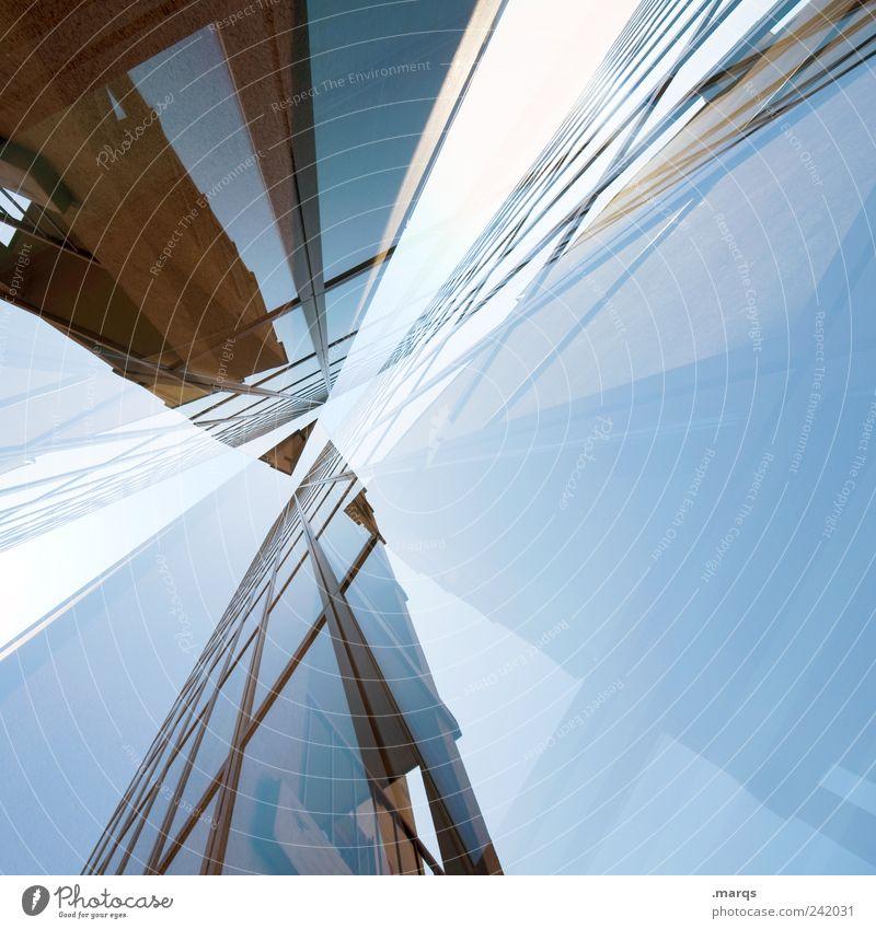 Puzzle Stil Gebäude Business Architektur Design elegant groß hoch Fassade verrückt Lifestyle Perspektive Coolness Zukunft Bankgebäude