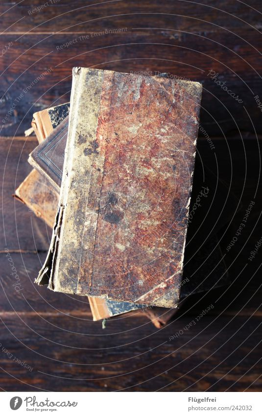 Antike Bücher alt Buch Bildung Wissen Erinnerung Stapel antik Holztisch Schatz Kostbarkeit Tisch Medien Printmedien