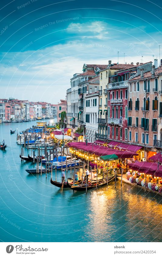 Venezia Ferien & Urlaub & Reisen Sommer Venedig Stadt Bauwerk Gebäude Architektur Bootsfahrt Venice Italien Lagoon Water Canal Grande Tourism Italian