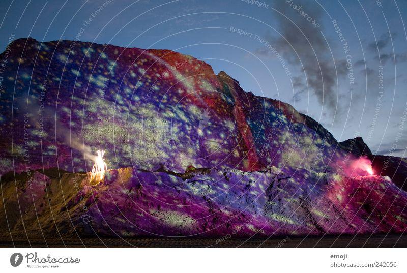 aus einer anderen Welt Natur Erde Himmel außergewöhnlich Beleuchtung Kieswerk Spektakel Feuerwerk Projektionsleinwand künstlich Planet außerirdisch fremd