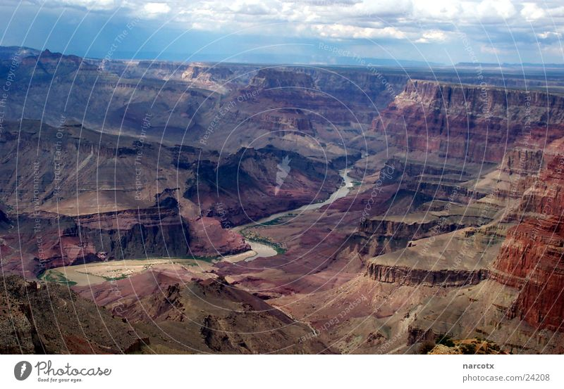 grand canyon Schlucht groß Amerika Südwest Colorado USA Fluss Niveau Felsen Grand Canyon Panorama (Aussicht) Colorado River beeindruckend Ausflugsziel