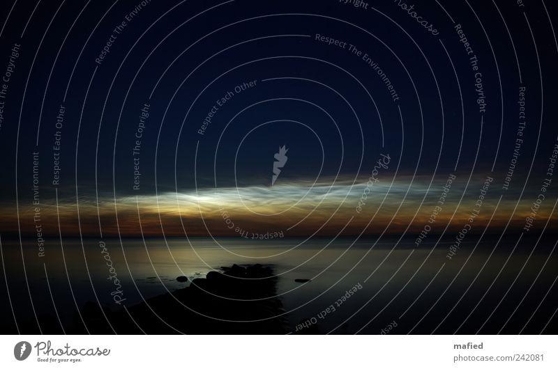 Noctilucent Clouds Natur Wasser Himmel weiß blau Sommer schwarz Wolken gelb Landschaft Luft Erde Küste Stern Wetter Umwelt