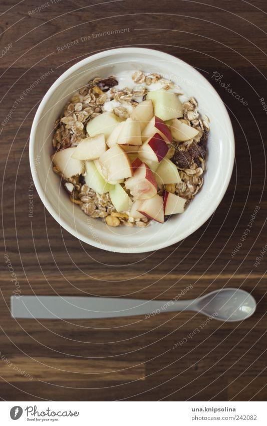 guten morgen Gesundheit Frucht Lebensmittel frisch Ernährung Tisch Küche Getreide Apfel lecker Frühstück Bioprodukte Schalen & Schüsseln Diät Löffel