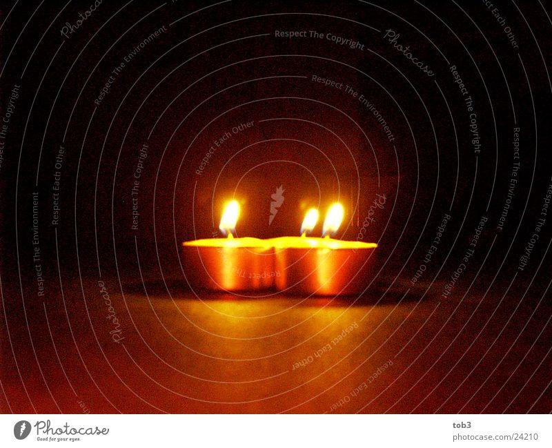 3Kerzen Weihnachten & Advent hell Kerze Dinge Teelicht