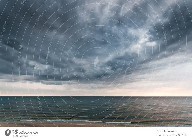 Battle for the sun Natur Wasser Himmel Meer Strand Ferien & Urlaub & Reisen Wolken dunkel Regen Luft Küste Wellen Wind Wetter Umwelt Insel