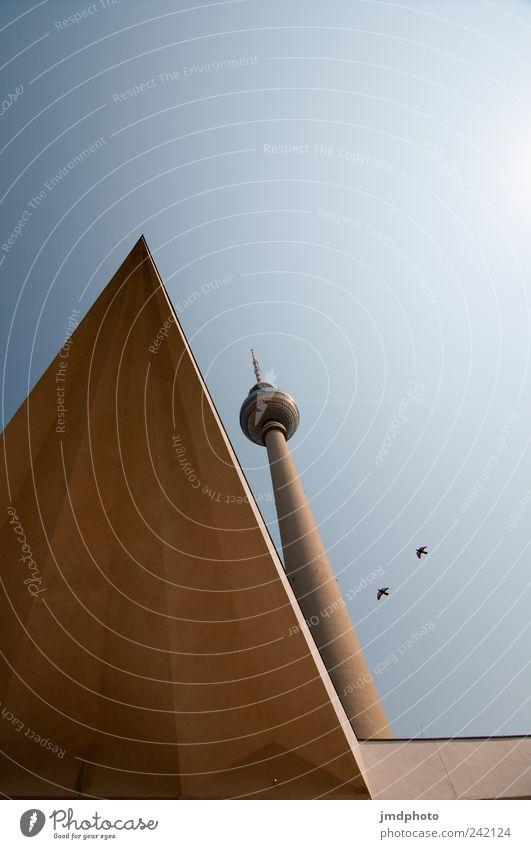 Alex Ferien & Urlaub & Reisen Tourismus Ausflug Sightseeing Städtereise Himmel Wolkenloser Himmel Schönes Wetter Hauptstadt Turm Bauwerk Architektur