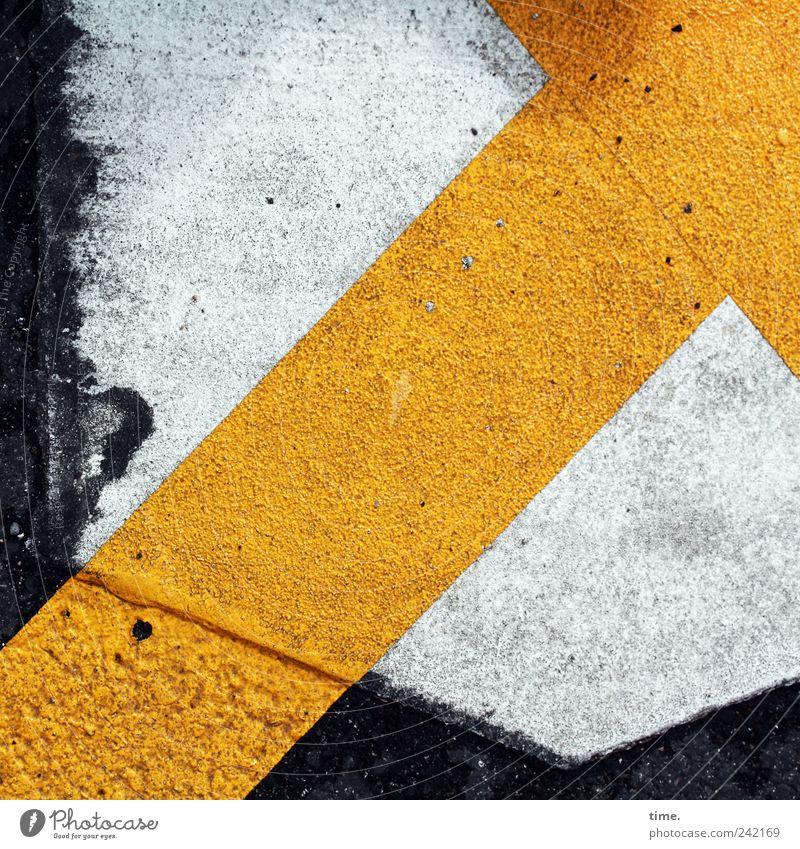 Richtung weiß gelb Straße Schilder & Markierungen Asphalt Pfeil Grafik u. Illustration diagonal Warnhinweis Hinweis