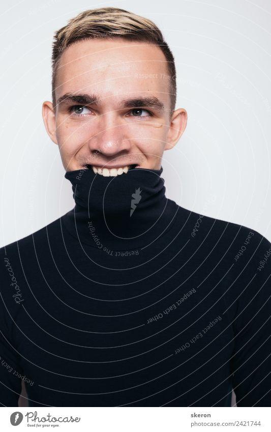 Mensch Jugendliche Junger Mann weiß 18-30 Jahre schwarz Erwachsene Auge Gefühle Mode Kopf Stimmung maskulin modern blond ästhetisch