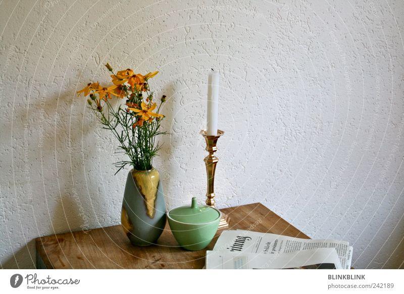 .l.u Frühstück Kaffeetrinken Lifestyle Häusliches Leben Wohnung Haus einrichten Innenarchitektur Dekoration & Verzierung Tisch Raum Küche Zeitung Zeitschrift