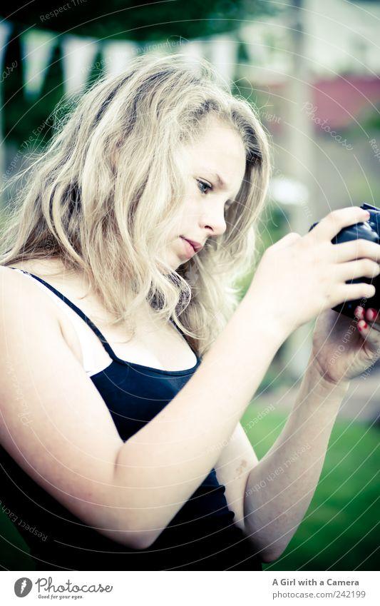 alles nix oder Mensch Jugendliche Hand schön Kopf blond Arme natürlich Freizeit & Hobby Fotografie authentisch ästhetisch Coolness niedlich beobachten