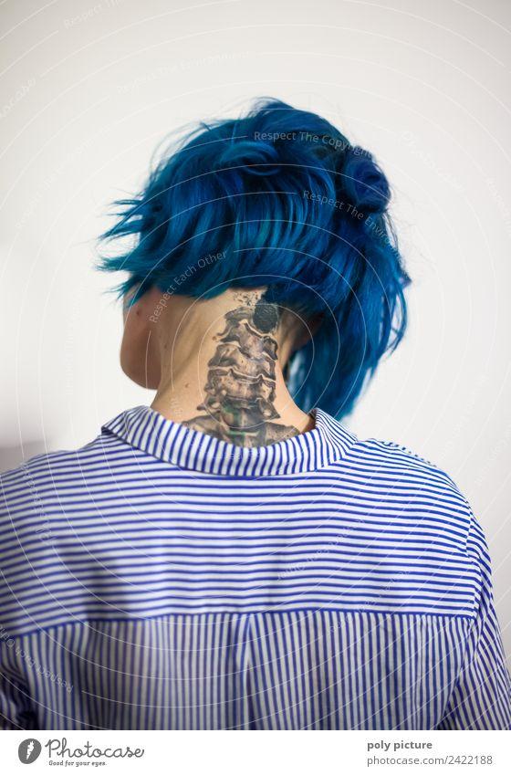[AM103] - Columna vertebralis ferro picta schön Haare & Frisuren Gesundheit sportlich Fitness Krankheit Junge Frau Jugendliche Erwachsene Kopf Hals 18-30 Jahre