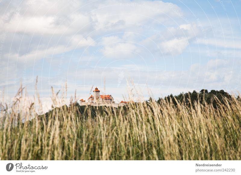 Thüringen | Gras Himmel Wolken Wiese Landschaft Gras Stimmung Wind elegant ästhetisch Tourismus Hotel historisch Schönes Wetter Reichtum Wahrzeichen