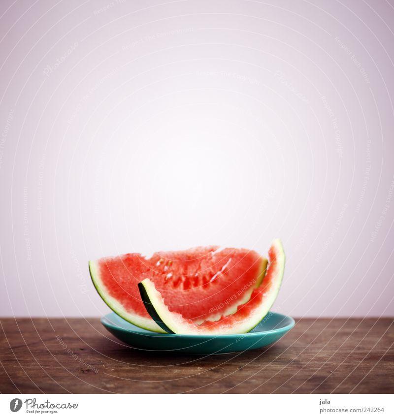 melone Gesunde Ernährung Lebensmittel Frucht Ernährung lecker Bioprodukte Teller Diät Vitamin Vegetarische Ernährung Holztisch vitaminreich Melonen