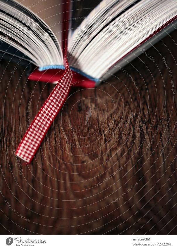Lesezeichen. Kunst Schilder & Markierungen ästhetisch Buch Mitte Hinweis Buchseite Literatur Bibliothek Bibel Buchladen Kochbuch Tiefenschärfe Kultur