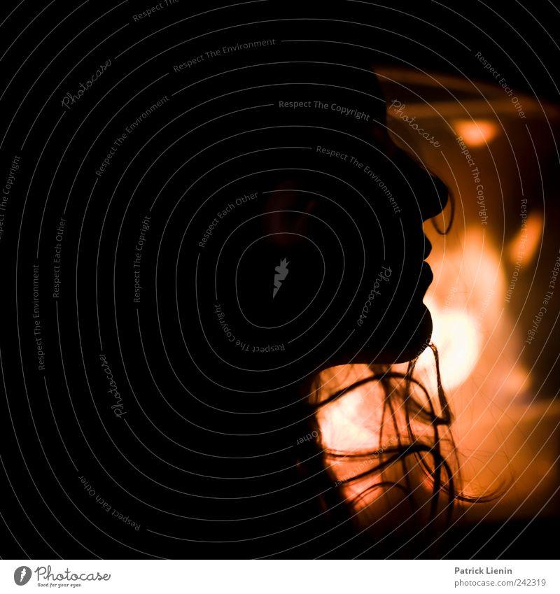 Be with me Frau Mensch schön Erwachsene Erholung feminin Leben dunkel Kopf Stil Stimmung Kunst Zufriedenheit elegant Energie ästhetisch
