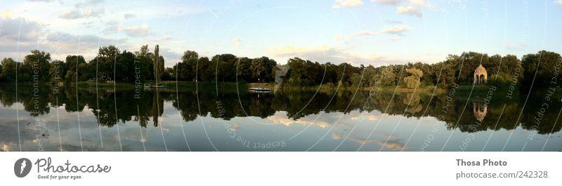 Magdeburg Adolf Mittag See Sommer Insel genießen Weitwinkel weit breit abend Baum Farbfoto Tag Panorama (Aussicht)