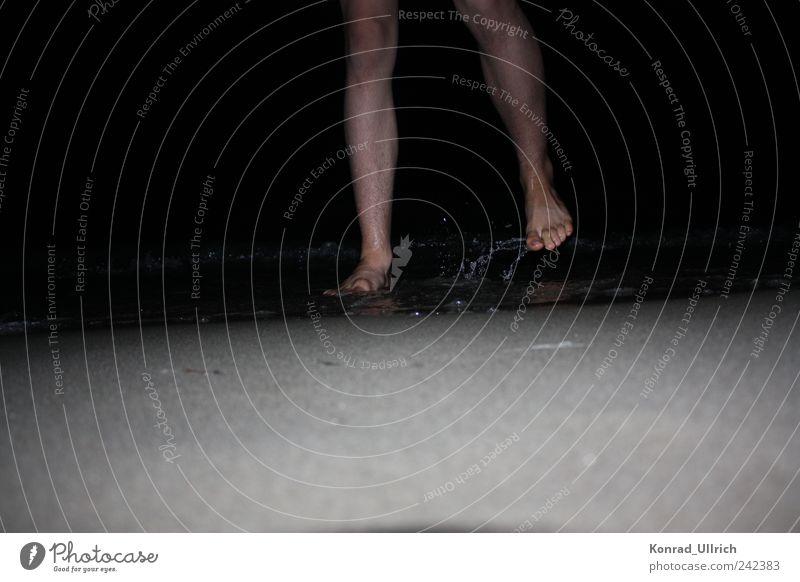 Wassertanz Freude Leben Sinnesorgane Spielen Ferien & Urlaub & Reisen Sommerurlaub Tanzen Bewegung springen Außenaufnahme Nacht Blitzlichtaufnahme