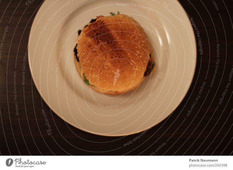 Burgermeister Stil Design frisch Ernährung rund heiß Gemüse Übergewicht dünn dick lecker Brot Teller Duft Fett Fleisch