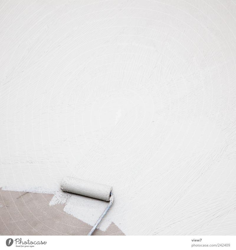 ausgerollt Ferne Stein nass Beton Beginn modern Ordnung ästhetisch neu Pause authentisch Baustelle liegen dünn rein streichen