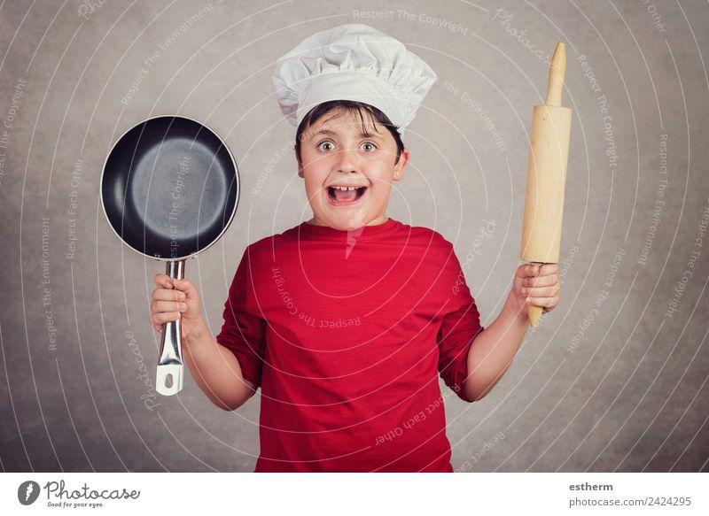 wütendes Kochkind Lebensmittel Ernährung Arbeit & Erwerbstätigkeit Beruf Gastronomie Mensch maskulin Kind Kleinkind Junge Kindheit 1 8-13 Jahre Diät festhalten