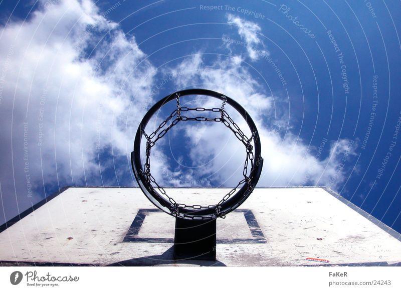 Basketballwetter Sonne Wolken Wetter Netz Freizeit & Hobby werfen Korb