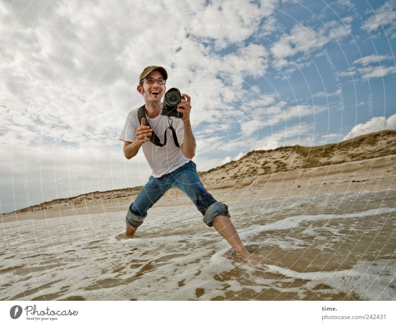 It's Only About Photographing Wasser Meer Sand Wellen Mann maskulin Fotografieren Lebensfreude Wolken Himmel Dynamik