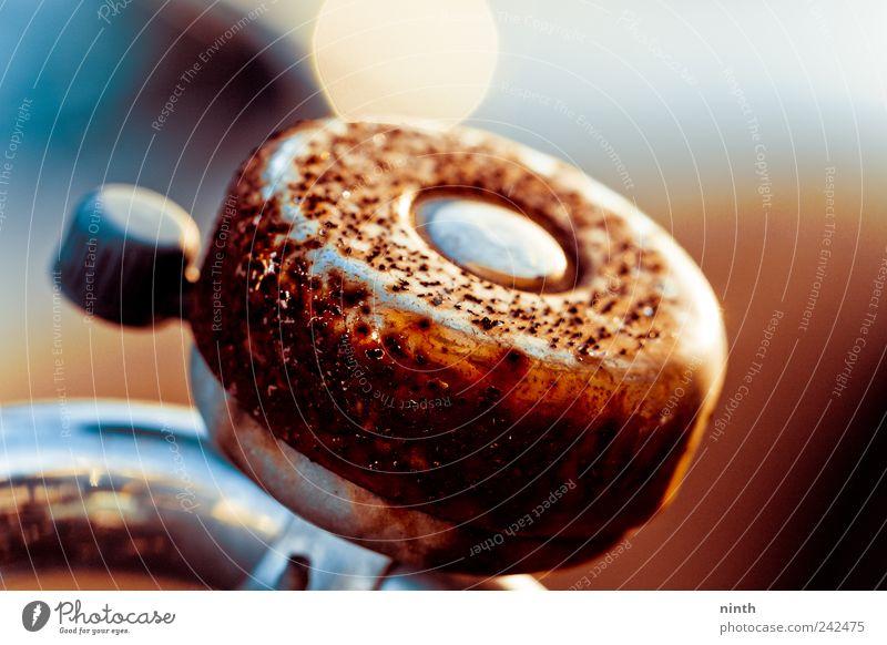 beautiful old rusty bell alt blau weiß schön Freude schwarz Leben Metall Stimmung braun Fahrrad glänzend Design außergewöhnlich ästhetisch Vergänglichkeit