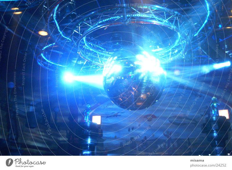 Lights Disco blau Licht Party Discokugel Strahlung Club Beleuchtung lights Reflexion & Spiegelung Kugel Reaktionen u. Effekte Lichtstrahl