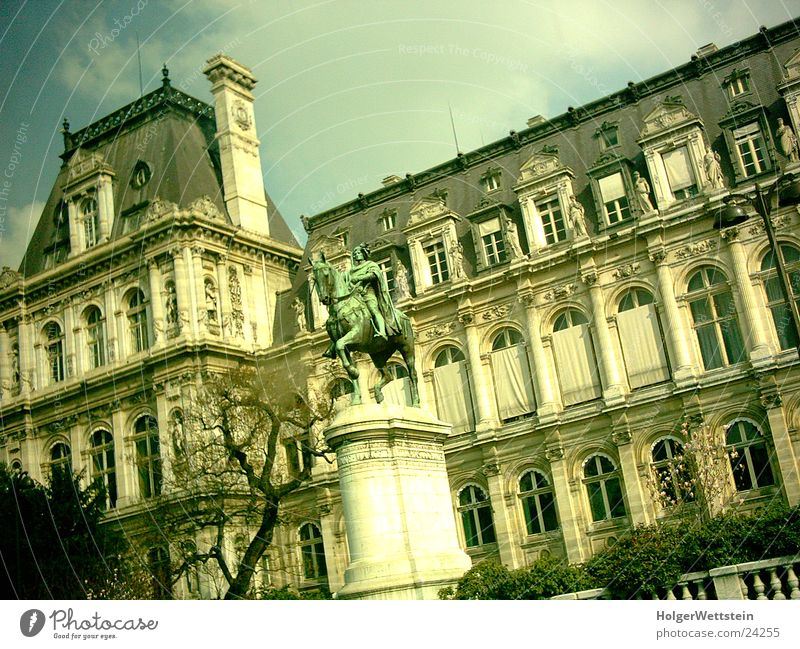 Paris - Gebäude Mensch Farbe Architektur Kultur gruselig Statue Frankreich