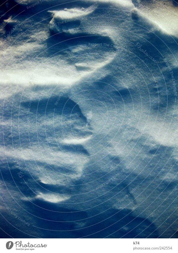 Schnee von gestern Natur blau Winter ruhig Umwelt kalt Eis ästhetisch Frost weich frieren Kontrast