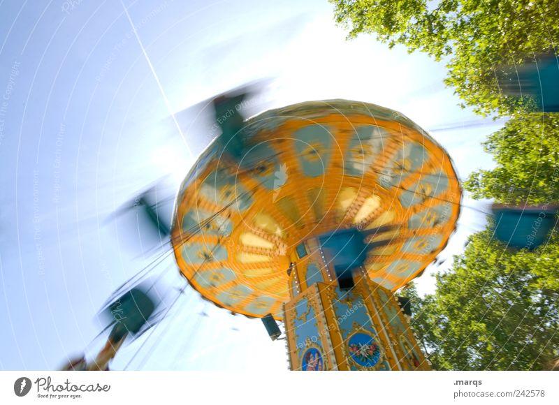 Schleudertrauma Lifestyle Stil Freude Freizeit & Hobby Karussell Kettenkarussell drehen außergewöhnlich retro Geschwindigkeit mehrfarbig Gefühle Fröhlichkeit