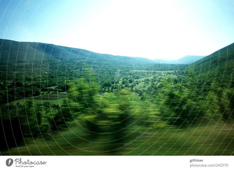 Kroatien, Hinterland Umwelt Natur Landschaft Pflanze Urelemente Erde Luft Himmel Wolkenloser Himmel Horizont Sonnenlicht Sommer Schönes Wetter Wiese Wald Hügel