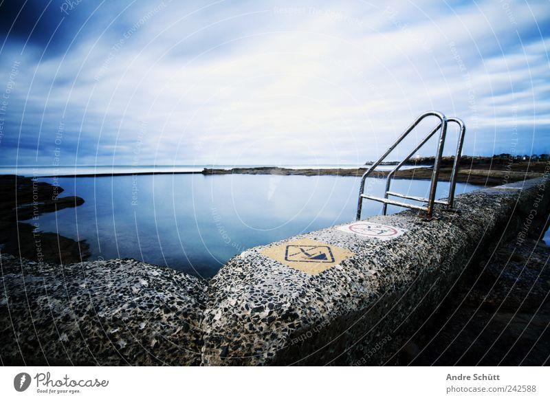 rock pool (2) Renovieren Schwimmen & Baden Urelemente Himmel Wolken Küste Meer alt Schwimmbad Felsen Ferien & Urlaub & Reisen Australien New South Wales