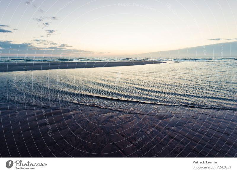 Einsamkeit Himmel Natur Wasser blau Strand Ferien & Urlaub & Reisen Meer Wolken ruhig Ferne Freiheit Landschaft Umwelt Glück Stimmung