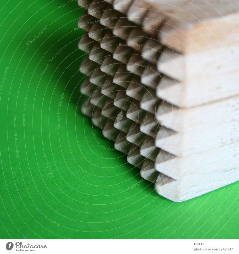 Zartmacher Holz Spitze grün Perspektive Fleischklopfer Holzhammer Zacken Manuelles Küchengerät Hausarbeit bearbeiten weichklopfen Farbfoto Innenaufnahme