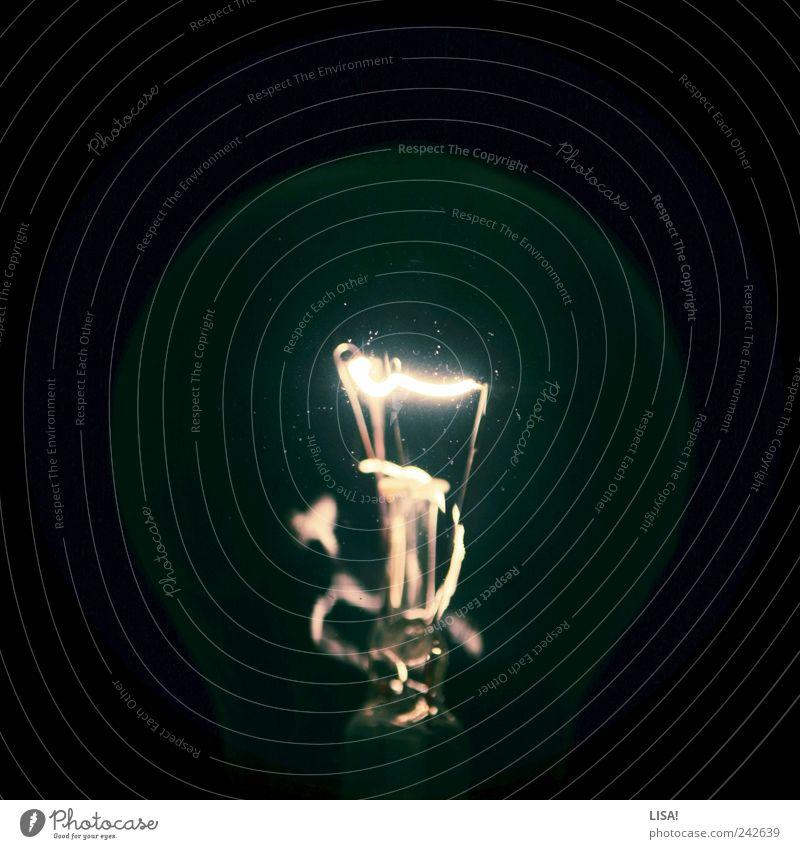 flashing light I schwarz hell Metall Glas Elektrizität leuchten Glühbirne elektrisch Leuchtkörper Glühdraht