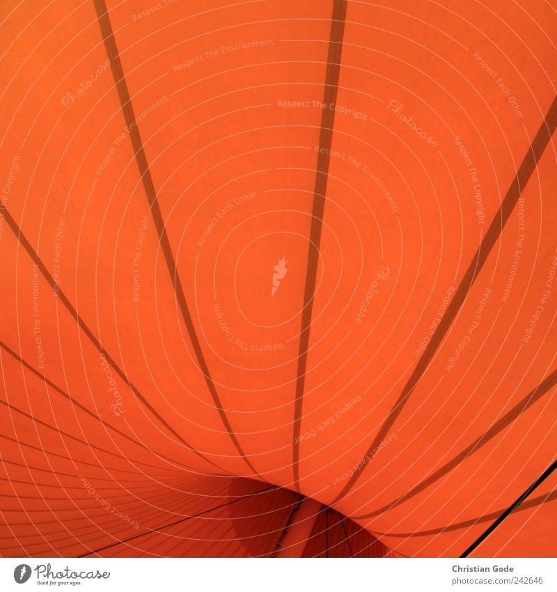 orange wave Kunststoff Zelt Zeltplane Zelthimmel Streifen Abdeckung Konstruktion Wellenlinie Stab Seil schwarz Zeltdach Zeltkonstruktion Mitte Quadrat Kurve