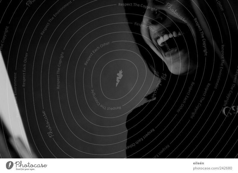 laughing Mensch Jugendliche weiß Freude Erwachsene schwarz feminin Gefühle Kopf lachen Fröhlichkeit ästhetisch authentisch 18-30 Jahre Lebensfreude positiv