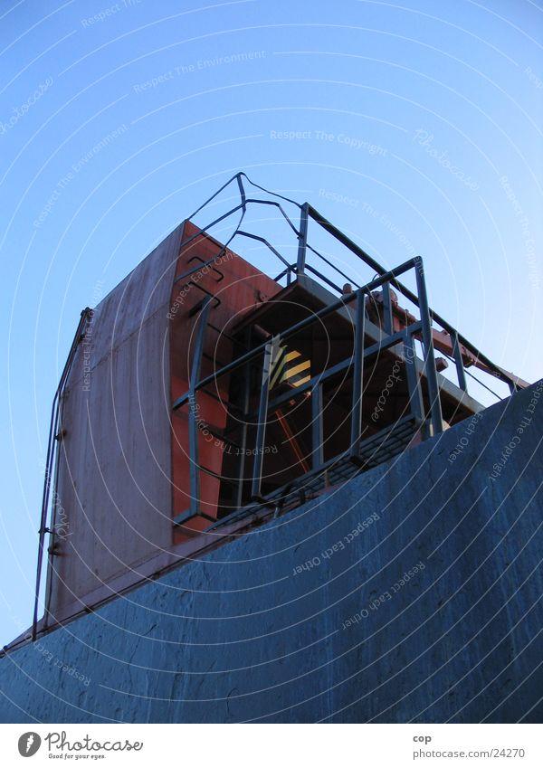 Monolith schwarz Wand Wasserfahrzeug Industrie Treppe Stahl Konstruktion