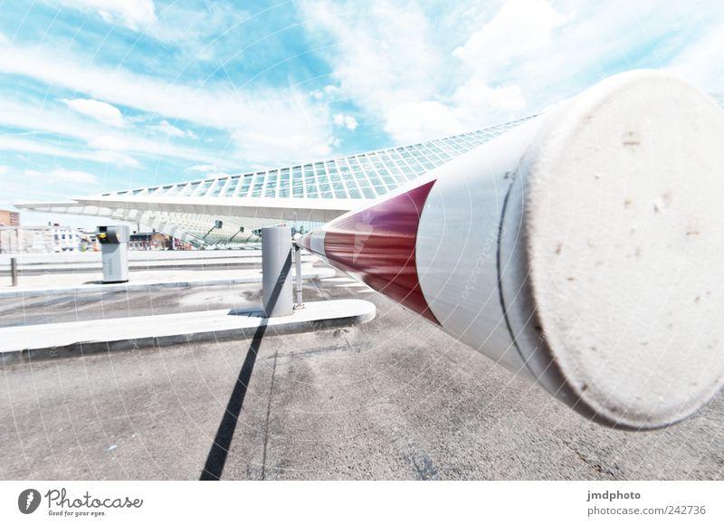 Schranke Ferien & Urlaub & Reisen Ausflug Fortschritt Zukunft Bahnhof Parkhaus Bauwerk Architektur Verkehr Verkehrswege Straße Verkehrszeichen Verkehrsschild