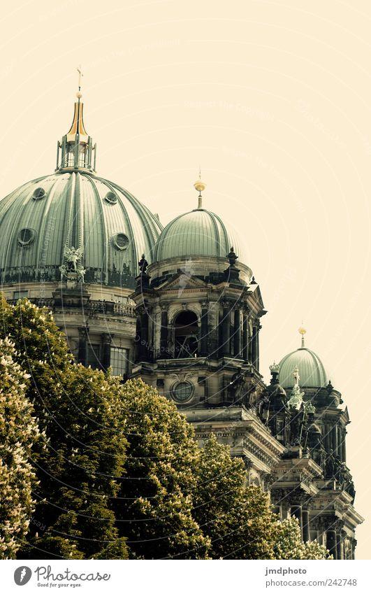 Berliner Dom alt Baum Sommer Ferien & Urlaub & Reisen Architektur Religion & Glaube Zufriedenheit Kraft Ausflug groß Tourismus Hoffnung Hilfsbereitschaft Kirche