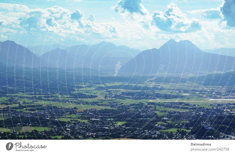 Salzburg Natur Landschaft Erde Luft Himmel Wolken Sommer Klima Schönes Wetter Berge u. Gebirge Alpen frei Unendlichkeit Frühlingsgefühle chaotisch Freiheit