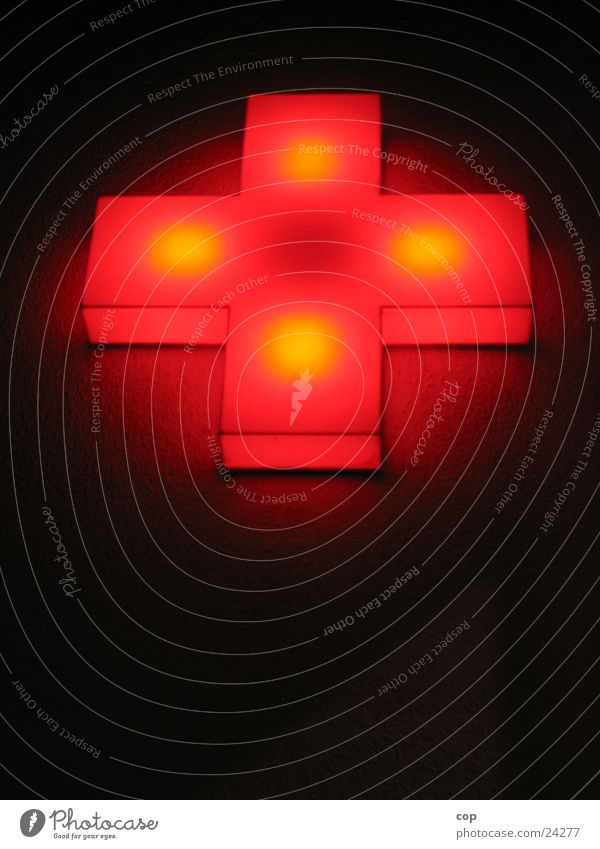 Achteck rot dunkel Wand Rücken Fototechnik