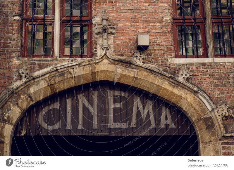Cinema alt Haus Fenster Architektur Wand Gebäude Mauer außergewöhnlich Fassade Freizeit & Hobby Tür einzigartig Bauwerk Kino