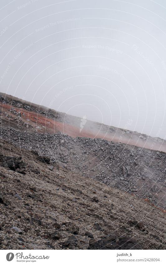 Mond Exkursion Ausflug Abenteuer Freiheit Expedition Winter Berge u. Gebirge wandern Umwelt Natur Landschaft Urelemente Erde Wetter Nebel Dürre Vulkan Cotopaxi