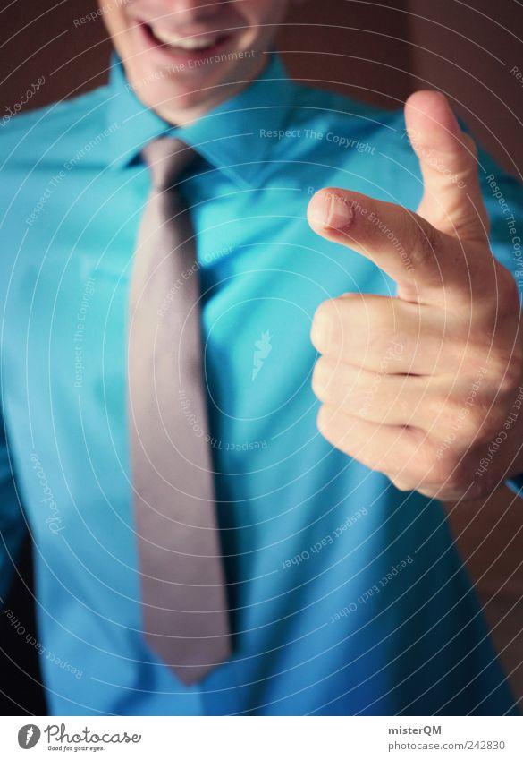 Going Business. maskulin Erfolg Finger Lächeln Freundlichkeit Hemd Anzug Dienstleistungsgewerbe zeigen Wirtschaft Karriere Konkurrenz Hinweis Krawatte Aktien