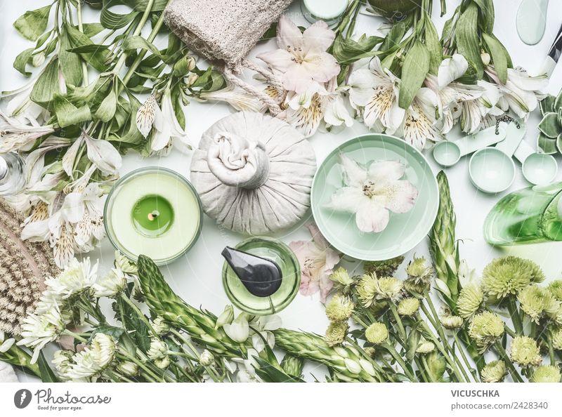 Grüne Natur Kosmetik und Wellness Zubehör Pflanze schön grün Blume Gesundheit Lifestyle Leben Stil Häusliches Leben Design Haut trendy Körperpflege exotisch