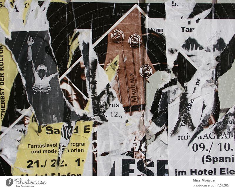 plakat Plakat Kultur Collage kaputt Freizeit & Hobby Werbung Theaterschauspiel