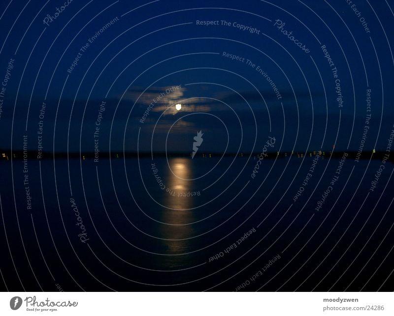 Mondschein Himmel Meer Mond