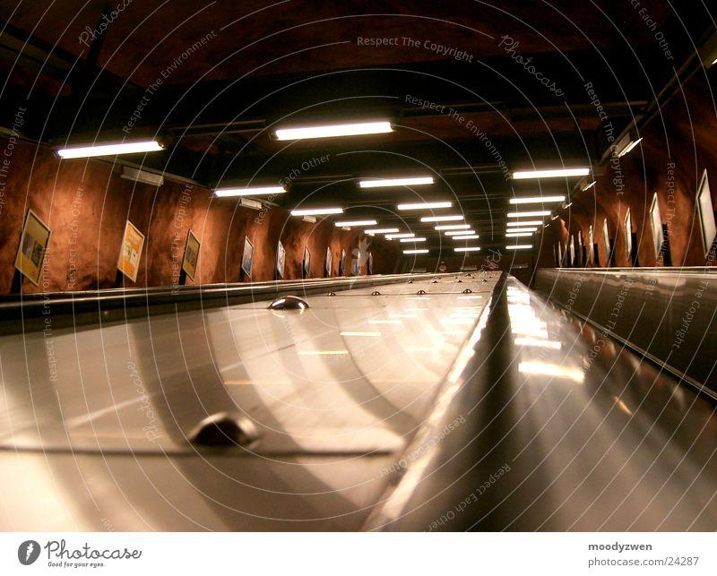 Stockholm Underground Verkehr U-Bahn Rolltreppe